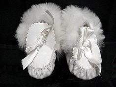 antique leather and rabbit fur pram boots ... c. 1915