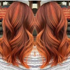 Pumpkin spice hair, copper hair color for auburn ombre brown amber balayage and blonde hairstyles Fall Hair Colors, Red Hair Color, Copper Hair Colors, Red Hair For Fall, Autum Hair, Gorgeous Hair Color, Hair Highlights, Pretty Hairstyles, Blonde Hairstyles