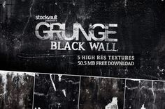 Grunge Black Wall Textures