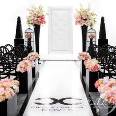 KR: love the aisle detail. Quite elegant and esp the vases at the top