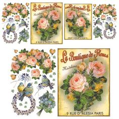 Papéis Decoupage Florais | Imagens para Decoupage- good images for decoupage and scrapbooking.