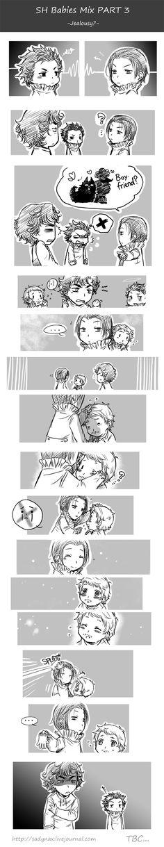 """Sherlock babies comic Part 3 """"Jealousy?"""""""