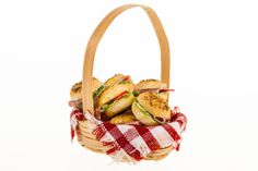 basket of filled bread roll  sandwiches dollhouse by amanspeak