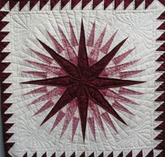 Amish Quilts | Mariner Compass Quilt - Amish Hand Stitched Quilts ...