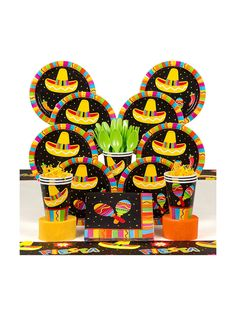 Fiesta Fun Deluxe Kit - Birthday Party Supplies & Themed Tableware