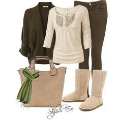 Brown Winter 2013 Outfits for Women by Stylish Eve, (I would change the boots though.)