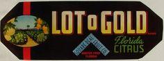 3.25x9 LOT O GOLD, Vintage Winter Park, Florida Citrus Crate Label