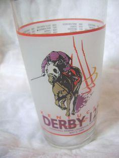 KENTUCKY DERBY 122-MAY 4,1996-SOUVENIR GLASS