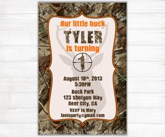 Camo birthday invitation jpeg 300 dpi printable by decoratyourdoor camo birthday invitation buck hunting 1st first teen 50th 60th by maryspartydesigns on etsy https filmwisefo