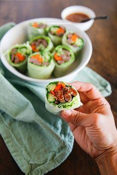 Bulgogi Spring Rolls with Sweet Ssamjang Sauce