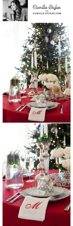 @Camille Styles designed a crisp & crimson tabletop. If this is your favorite be sure to vote for her here: on.fb.me/TPRoXj