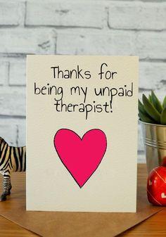 Funny Birthday Card Thank You Best Friend Gift Ideas