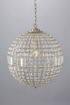 Antique Brass and Crystal Glass Ball Ceiling Light Chandelier Pendant BHS Ursula for sale online Crystal Light, Ceiling Lights, Ball Pendant Lighting, Chandelier Lighting, Crystal Chandelier, Lights, Light, Chandelier, Glass Ball