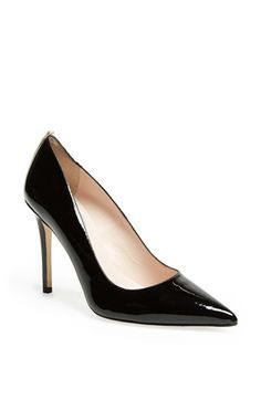 I think a classic black patent leather pump is a #MustHave in every shoe closet. This one by #SJP is especially pretty. 'Fawn' Pump available at #Nordstrom #sweepsentry
