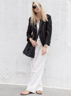 Black & white look Office Looks, Cool Outfits, Casual Outfits, Fashion Outfits, Street Chic, Street Style, Street Fashion, Estilo Street, Blazers