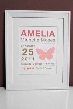 Such a pretty birth announcement.  Double as art!  #birthannouncement #stationary