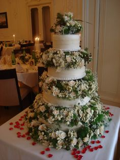 üppige Blumendeko für die Hochzeitstorte Cupcakes, Table Decorations, Desserts, Food, Home Decor, Wedding Pie Table, Pies, Tailgate Desserts, Cup Cakes