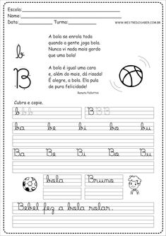 2 - Caderno de Caligrafia letra B Curriculum, Homeschool, Digital Scrapbook Paper, Bullet Journal, Math Equations, Humor, Kids, Caleb, David