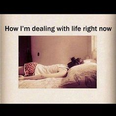 How I'm dealing with life right now. #Fibromyalgia #ChronicFatigueSyndrome #spoonie