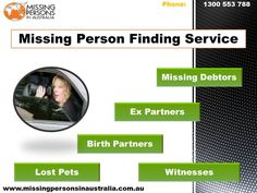 MPIA specializes in locating missing people in Australia as the experts have access to numerous databases.