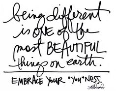 Being different is cool. Find the courage to do it, I guarantee you won't be disappointed