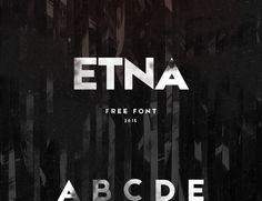 ETNA - Free font on Behance | by KRISJANIS MEZULIS