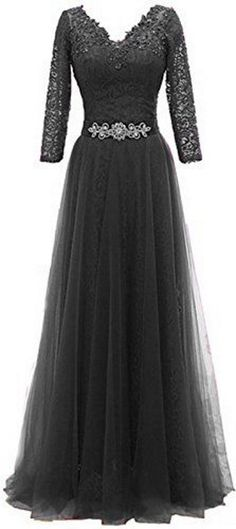 black lace & tulle gown <3