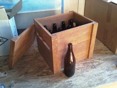 Wooden Beer Bottle Crate made from Pallet