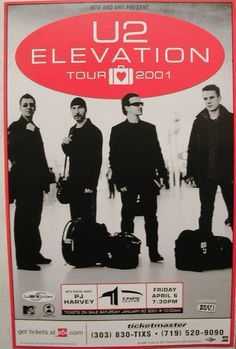 Original concert poster for and PJ Harvey at The Pepsi Center in Denver, CO… U2 Poster, Tour Posters, Event Posters, Music Posters, Art Posters, Pepsi Center, Vintage Concert Posters, U 2, Recorder Music