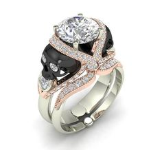 Skull Engagement Ring 10 k