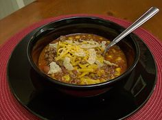 Can Can Taco Soup from 365 Days of Slow Cooking: Soups - As the description says: If you can open a can, you'll have success with this soup!
