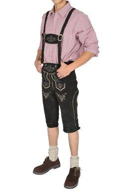 Herren Trachten Lederhose Kniebund schwarz mit Träger 100% Echt Rindvelourleder: Amazon.de: Bekleidung Rind, Capri Pants, Barbie, Cosplay, Fashion, Culture, Mens Leather Pants, Clothing, Trousers