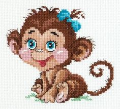 Cross Stitch Kit Charming Monkey Art. 19-01