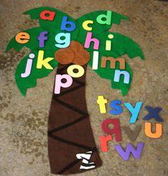 Chicka Chicka Boom Boom Flannel Board Story - Felt Board Story Set. $25.00, via Etsy.