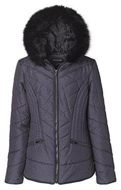 Sportoli Junior Womens Down Alternative Promo Puffer Jacket With Fur Trimmed Hood  Hematite 2X *** See this great product. (This is an affiliate link)