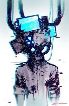 Cyberpunk(ish) workstations - photos and art Character Concept, Character Art, Concept Art, Anime Kunst, Anime Art, Manga Art, Cyberpunk Kunst, Sketch Manga, Monster Boy