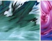 Quadro astratto Olio su tela Pezzo unico Originale 75X40 e 50x40 cm dittico di De Palma Davide : Dipinti di davide-de-palma