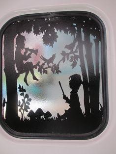 Fellow SOTF's silhouette in her Scotty trailer door window... <3