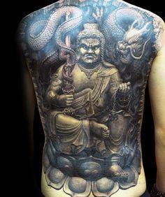 50 Fudo Myoo Tattoo Designs For Men - Acala Ink Ideas Back Tattoo Women Full, Full Tattoo, Full Back Tattoos, Tattoo On, Element Tattoo, Buddha Tattoo Design, Japanese Tattoo Women, Asian Tattoos, Chinese Tattoos