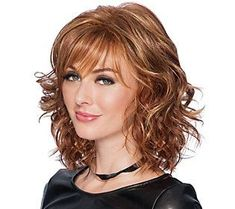 The Tousled Bob by Hairdo is a shoulder-length bob with feathered bangs and softly waved all-over layers which can be worn full. With bouncy or brushed smooth, this wig is the ideal way for any woman to change her look on a whim or handle a bad hair day. Wavy Bob Hairstyles, Long Bob Haircuts, Wedding Hairstyles, Gorgeous Hairstyles, Homecoming Hairstyles, Men's Hairstyles, Formal Hairstyles, Hairdos, Smoky Eye