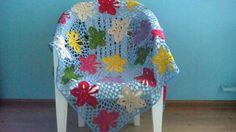 Baby blanket crochet butterflies by Juliya Kobzeva, Blankets