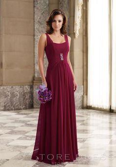 Attractive Beaded Flowers Sheath A-Line Knee-length Strapless Bridesmaid Dress at Storedress.com