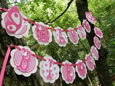 Butterfly Paper Birthday Banner idea