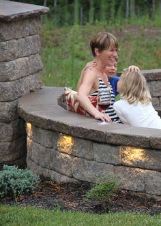 Napa Wall & Stoneledge Fire Pit in Mesquite Fire Pit Seating, Seating Areas, Outdoor Spaces, Outdoor Living, Outdoor Decor, Free Standing Wall, Patio Tiles, Garden Fountains, Fire Pit Backyard