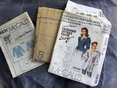 McCall's Misses Jacket Sewing Pattern 5231 Palmer Pletsch Easy-Sew Size 20 #McCalls #SewingPattern