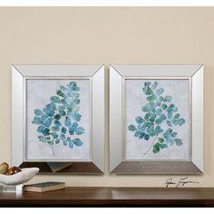 Uttermost Spring Leaves Framed Art Set of 2 41538