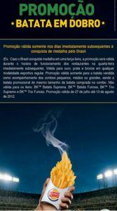 Burger King Brasil Olympics ambush