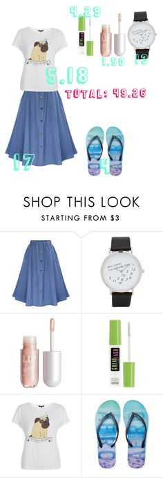 """""""Shopping with a 50$ budget"""" by andrealadybug ❤ liked on Polyvore featuring ALDO, H&M, Maybelline, New Look and Aéropostale"""