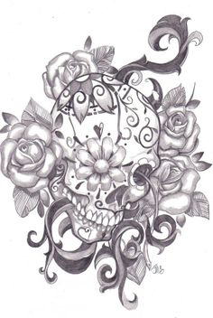 Sugar skull sketch - Top General Review - kReview top Reviews