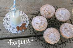 Muffin limone e mandorle #lemon #muffin #almond #recipe #bonjour #milk #white